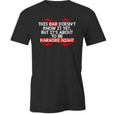 This Bar Doesnt Know It Yet But Its About To Be Karaoke Night T-Shirt Funny Drin