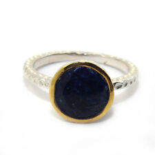 ANTIQUE STYLE GENUINE NATURAL HUGE SAPPHIRE 4.3CT SOLID 925 STERLING SILVER RING