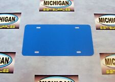 Colonial Blue Plastic License Plate Blank .050-Create Your Own Designs!!