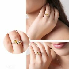 Adjustable Size Opening Fashion Love Heart Angel Wings Ring Adjustable Ring