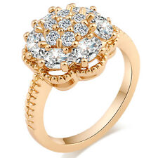 Womens Wedding Crystal Flower Rings Size 5 6 7 8 9 Wholesale Jewelry Lots Bridal