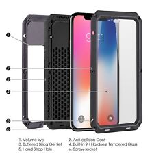Shockproof Waterproof Aluminum Metal 360 Full Body Cover Case For Apple iPhone