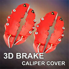 Universal Red 3D Disc Brake Caliper Covers 2pcs Front and Rear New