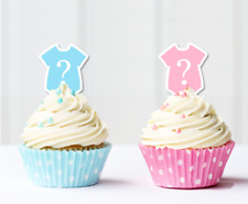 #401. 24x Baby Onsie Pink/Blue Girl Boy Edible Cupcake Cake Toppers Baby Shower
