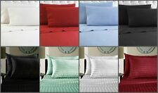 1800 Series 4 PC Solid Bed Sheet Set Egyptian Quality Deep Pocket  All Sizes 12