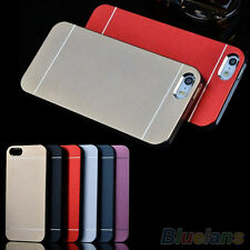 ES_ New Luxury Metal Brushed Aluminum Shell Back Case Cover For iPhone 4 4S 5 5S