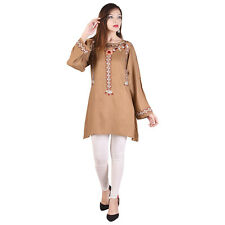 Bollywood Full Sleeve White Color New Design Top Tunic Women Ethnic Wear Kurti