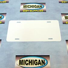 Two-Sided Gloss White .024 Aluminum License Plate Blank