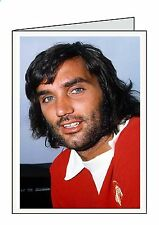 GEORGE BEST Personalised A6 or A5 Cards Birthday Greeting Thank You Welcome B15