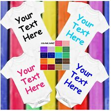 Your Text Here Funny Baby Vest Grow Bodysuit Personalised Gift  Any Name Message