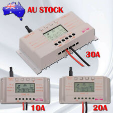 LCD 10/20/30A MPPT Solar Panel Battery Regulator Charge Controller 12V/24V AE