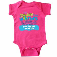 Inktastic My Daddy Is The World�s Best Personal Trainer Infant Creeper Worlds