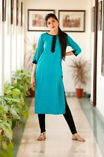 Top Tunic Wedding Dress Women Ethnic Full Length Party Wear Rayon Indian Kurti