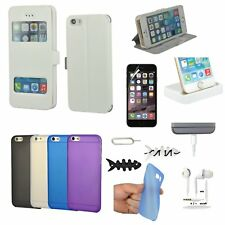 All x Wallet Leather Case Cover Headset Charger Accessory Bundle For iPhone 6 6S