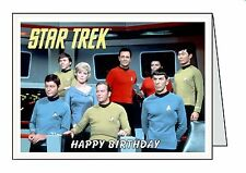 STAR TREK Personalised A6 or A5 Cards Birthday Greeting Thank You Welcome D23