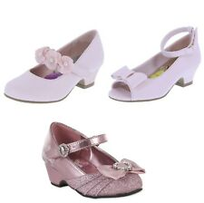New Disney Princess Heel Dress Shoes Toddler Girls Sz 9-13 or 1 Youth -3 Styles