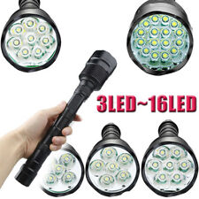 Police Tactical 80000LM 3x~16x T6 LED 5Modes 18650 Flashlight Torch Lamp Light