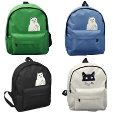 College Wind Leisure Cartoon Canvas Backpack Bag For School Travel Girl Women