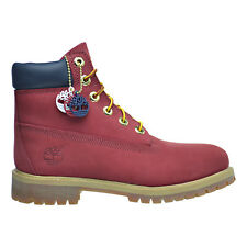 "Timberland 6 Inch Premium ""Patriotic Red"" Big Kids Boots Red Waterproof tb0a1fnp"