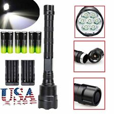 Tactical 80000Lumen LED Flashlight Torch 5-Mode 7xT6 Super Bright Light Lamp New