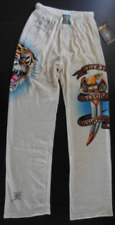 $125.00 Ed Hardy Men's Tattoo Print Velour Lounge Pants Death Before Dishonor