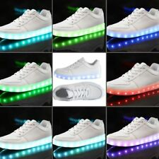 Unisex LED Lighting Light Up Shoes for Men Women USB Charging Casual Lace-up OK