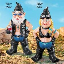 Harley Motorcycle Biker Chick Babe & Dude Guy Garden Yard Art Statue Sculpture