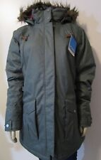 NWT Womens XL Columbia Barlow Pass 550 Down Insulated Warm Hooded Jacket - Pond