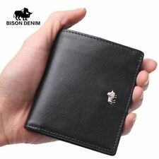 Short Wallets Genuine Leather Coin Pocket Card Holder Mini Small Wallet Business
