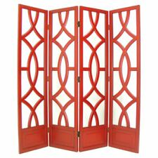 Intersecting Circles Four-Panel Room Divider