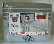 Disney Mickey Mouse Jumping Beans Heavyweight Flannel Sheet Set Twin or Full NIP