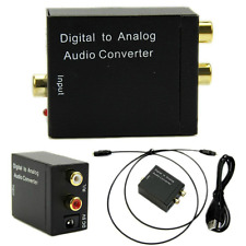 Optical Digital Coaxial Toslink Signal to Analog Audio Converter Adapter New BU