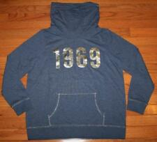 NEW NWT Womens GAP 1969 Logo Pullover Cowlneck Cowl Neck Sweatshirt Navy $39
