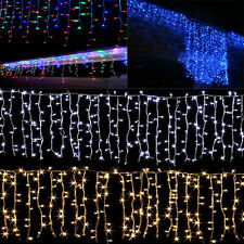Indoor Outdoor christmas String Fairy Icicle Curtain Light 96-1500 LED Lights ER