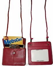 Leather Business card case, Neck String Wallet, Credit Card Case Leather case BN