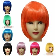 12Colors  Women Ladies Short Straight BoB Hair Full Wig Cosplay Party Wigs US