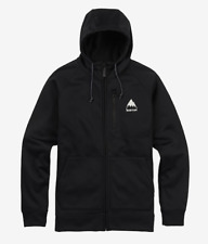 Brand New 2018 Mens Burton Bonded Full Zip Hoodie True Black White