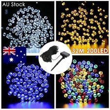 32M 200LED Solar Powered Garden Party Xmas String Fairy Lights Outdoor Christmas
