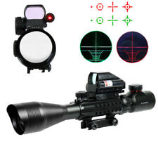 4-12X50 Tactical Rifle Scope with Holographic Mil-dot Reticle Sight & Red Laser