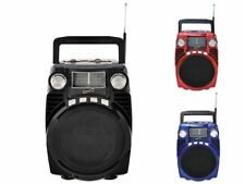 IQ Portable Bluetooth AM/FM/USB/SD/SW1-2 Bands Radio MP3 Player Rechargeable