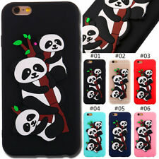 For Apple iPhone Rubber TPU Skin Silicone Soft Cover Back Panda Protective Case