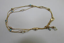 Dainty Gold Fill Opal Balls Bracelet Beaded Goldfilled Chain Bridal Jewelry Prom