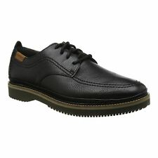 Hush Puppies KURT BERNARD Mens Leather Casual Comfy Lace Up Office Shoes Black