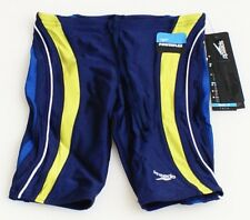 Speedo Powerflex Blue Rapid Splice Jammer Swimsuit Men's NWT
