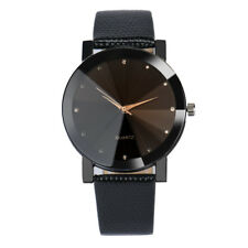 Unisex Watch Luxury Brand Stainless Steel Dial Leather Brand Wrist Watch