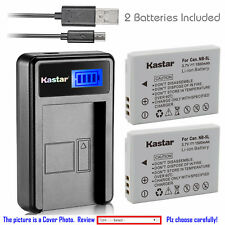 Kastar Battery LCD USB Charger for Canon NB-5L NB-5LH & Canon PowerShot SD990 IS