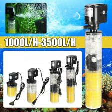 1000-3500L/H Submersible Water Internal Filter Pump For Aquarium Fish Tank Pond#
