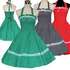 VINTAGE 1950's 1960's SWING ROCKABILLY RETRO PARTY DRESS POLKA DOT PINUP DRESSES
