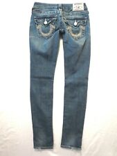 True Religion size 25 x 31 Skinny leg Medium light wash Low rise Womens jeans