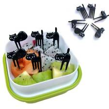 Dessert Fork Cat Fruit Fork Gadgets Cute Cartoon Toothpick 6 Pcs Baby Fork Y